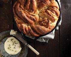 Sweet onions, roasted garlic, and cheese give this fluffy and light dough a savory twist. Serve it in place of traditional dinner rolls to amp up your bread basket.