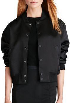 Polo Ralph Lauren Satin Baseball Jacket | #Chic Only #Glamour Always