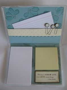 SIMPLY SIMPLE STAMPING with Connie Stewart: Clear Mount Stamp Case made into a Notepad Case!