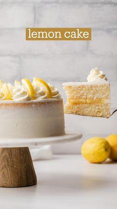 Best Lemon Cake Recipe, Lemon Recipes, Cake Recipes, Dessert Recipes, Baking Recipes, Homemade Cake Flour Recipe, Homemade Lemon Cake, Just Desserts, Delicious Desserts
