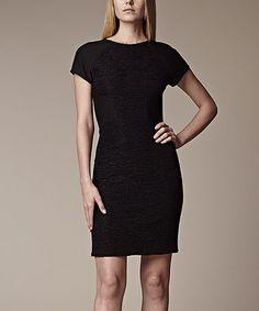 Black Sleek Crinkle Dress by Julia Jordan #zulily #zulilyfinds