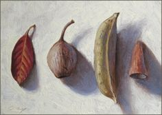 Four Small Reminders, painting by artist Don Gray