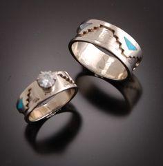 begay jewelry 14k gold rings - Native American Wedding Rings