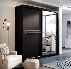 Havana 203 2 Sliding Door Wardrobe in Black