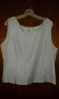 perception v pretty top 4 woman size 18 F 4 $14.99 silver with sparkle chest 44' waist40' hip 46'