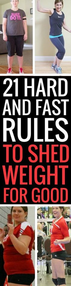 21 weight loss rules to lose weight fast and permanently.