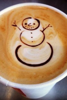 Snowman Latte Art