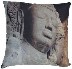 18x18 Throw Pillow Cover  Meditating Lord Buddha  King of Peace  Zipper Pillow Case  Handmade Cushion Cover for Meditating Room  Sofa  Couch  Home Decor ** You can get additional details at the image link.