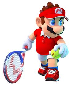 View an image titled 'Mario, Serve Shot Art' in our Mario Tennis Aces art gallery featuring official character designs, concept art, and promo pictures. Super Mario Bros, Lego Super Mario, Super Mario World, Super Smash Bros, Nintendo Characters, Video Game Characters, Mario Y Luigi, Mario Wii, Mario Smash