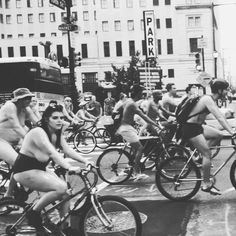 """Nakey bikers  #phillynakedbikeride"" Photo taken by @popuppolaroid on Instagram, pinned via the InstaPin iOS App! http://www.instapinapp.com (08/29/2015)"