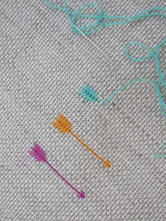Embroidered arrows