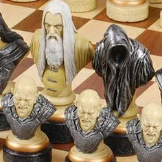The Lord of the Rings Chess Set Pieces - SAC Hand Painted