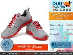 Select From The Best Range Of Reebok Shoes For Men And With Dial A Coupon Get The Best Discount On Reebok Shoes. Call Dial A Coupon @040 24 40 40 40 And Get Your Discount Coupon Now.  For More Discount Deals Please Visit: www.DialACoupon.com