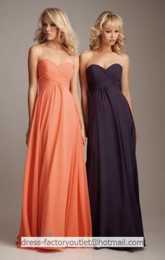@Katie L  Strapless Long Bridesmaid Dress Coral Navy Blue Chiffon Empire Evening Dress Sz4 6 8 10 12 14+ with ACTUAL LINK