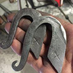 Pair of flint strikers made from an old file. #striker #flintstriker #flint #abqblacksmith #ironshepherdforge #blacksmith #sca #primitivefire #primitive #handforged