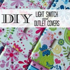 Creative DIY Light Switch and Outlet Covers