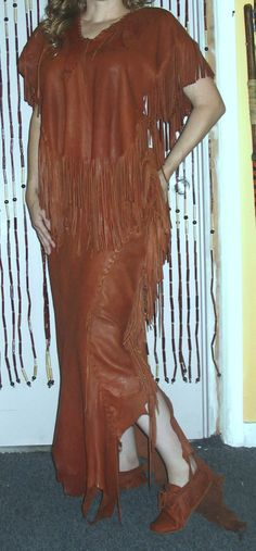 Brown Deerskin Native AmericanStyle EnsombleLeather by dleather, $750.00 (not my color, but beautiful)