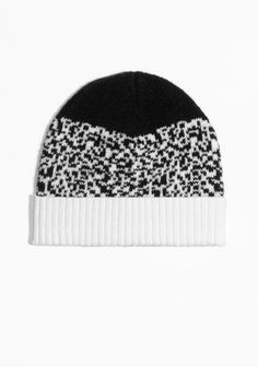 Knitted wool and mohair blended beanie with a classic, round silhouette.