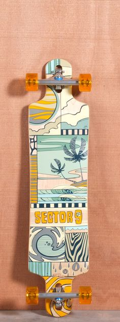 """Sector 9 40.5"""" Paradiso Yellow Longboard Complete"""