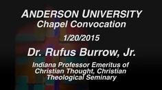 Reverend Dr. Rufus Burrow shared a message during the Martin Luther King Jr. Chapel on January 20, 2015. https://vimeo.com/117494901