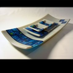 """Deep End"" Fused Glass  One of my favorites  Artist: Louise Craig  Sold"