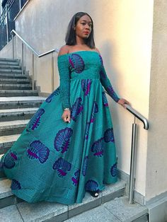 The complete collection of Exotic Ankara Gown Styles for beautiful ladies in Nigeria. These are the ideal ankara gowns Ankara Maxi Dress, African Maxi Dresses, African Attire, African Wear, African Women, Ankara Blouse, African Outfits, African Style, Ankara Gown Styles