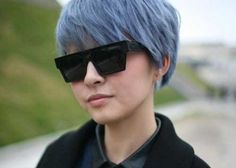 10 New Blue Pixie Cut