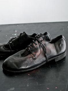 MEN DESIGNER :: GUIDI :: 15-16F/W :: GUIDI Men`s Goat Leather Low Shoes BLACK 16