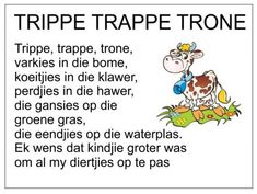 Afrikaans Is Maklik Preschool Poems, Kids Poems, Preschool Worksheets, Grade R Worksheets, Free Printable Alphabet Worksheets, Quotes Dream, Life Quotes Love, Robert Kiyosaki, Napoleon Hill