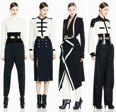 military inspired, navy & white,  Alexander McQueen