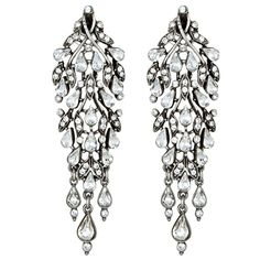 Crystal Chandelier Earrings found on Polyvore