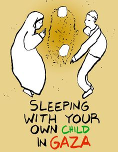 Sleeping with your own child in GAZA #StopBombingGaza #StopOccupyPalestine #gaza http://www.politicalcomics.info/2014/07/12/stop-bombing-gaza/