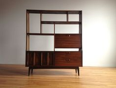 Mid Century Modern Shelving Unit / Room Divider by SharkGravy