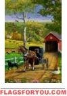 Amish Autumn Garden Flag