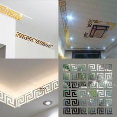 10 pcs Home Decor Puzzle Labyrinth Acrylic Mirror Wall Decal Art Stickers Decals Best Hot