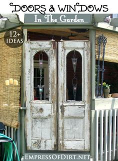 12+ Ideas for using doors and windows in the garden