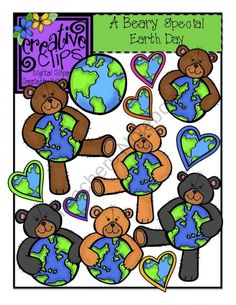 A Beary Special Earth Day Product From Creative Clips Clipart On TeachersNotebook