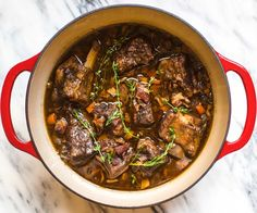 Braised Short Ribs in the Dutch Oven (and 9 other easy one-pot recipe ideas)… Short Ribs Dutch Oven, Dutch Oven Beef, Dutch Oven Cooking, Beef Short Ribs Oven, Duch Oven Recipes, Rib Recipes, Cooking Recipes, Easy Recipes, Easy Dutch Oven Recipes