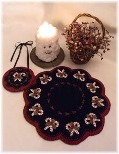 Navidad dulces Penny alfombra/vela Mat con por pennylaneprims