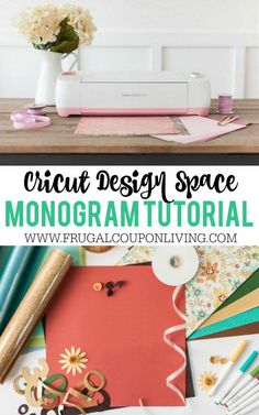 Cricut Monogram Tutorial on Frugal Coupon Living. Step by step instructions, with illustrations for your personal electronic cutting machine.