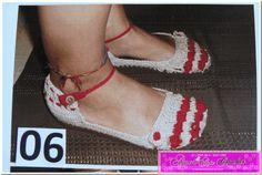 AMOR & ARTE : Sandálias de Crochet na Havaiana