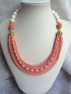 Showcase 500 Beaded Jewelry - Buy Online in South Africa Beaded Necklace Patterns, Jewelry Patterns, Necklace Designs, Beaded Bracelets, Beaded Jewelry Designs, Coral Jewelry, Bridal Jewelry, Bead Jewellery, Jewelery