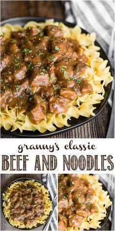 Beef and Noodles using Granny's classic easy re.- Beef and Noodles using Granny's classic easy recipe made even quicker in the Instant Pot, but can be made using the crockpot or stove top too. Best Easy Dinner Recipes, Instant Pot Dinner Recipes, Easy Beef Recipes, Recipes For Stew Meat, Stove Top Recipes, Steak Dinner Recipes, Healthy Meat Recipes, Supper Recipes, Recipes Using Beef Broth
