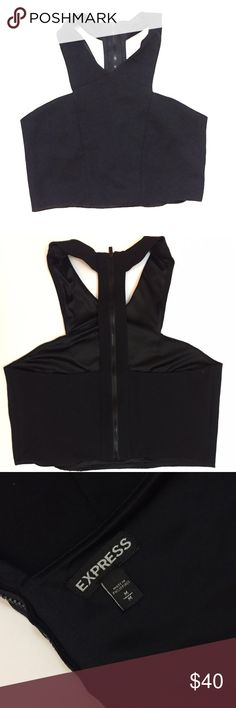 Express Cropped Top Black Cropped Top from Express. Expose Zipper in the back. In good condition and perfect for the next fashionista Express Tops Crop Tops