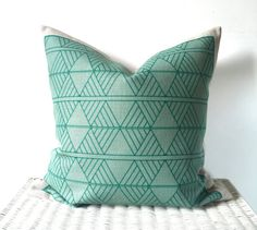 Hey, I found this really awesome Etsy listing at https://www.etsy.com/listing/243838561/new-mint-geometric-pillow-cover
