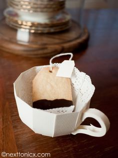 Paper Tea Cups  with template