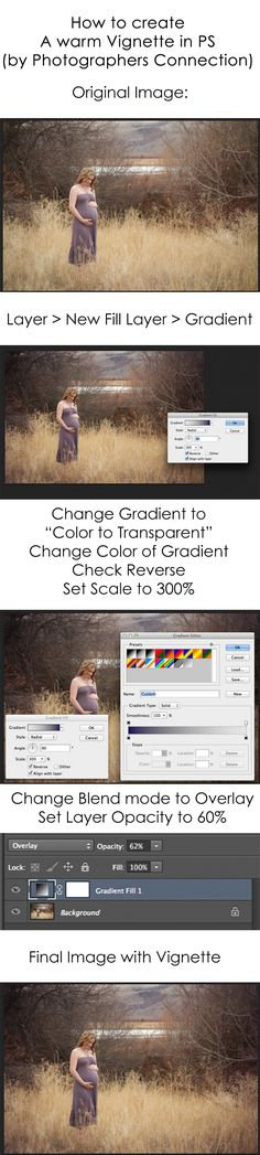 How to create a warm easily editable #vignette in #photoshop. Check out http://www.facebook.com/photographersconnection for more daily #photoshop #editing #tips. #photography #photographersconnection