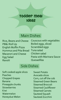 Toddler Meal Ideas http://www.zerotothree.org/about-us/funded-projects/parenting-resources/podcast/feeding-the-body-and-the-mind.html
