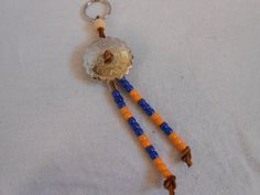 Beaded Leather Keychain with Silver Concho by FaerieTeaAndTreasure, $10.00