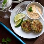 Black-Eyed Pea Cakes with Chipotle Mayonnaise